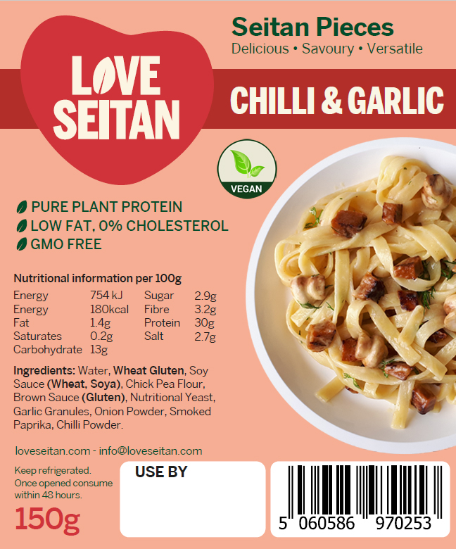 Chilli & Garlic Diced Seitan Pieces