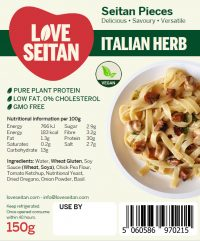 Italian herb Diced Seitan Pieces