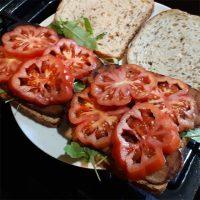 Seitan, Lettuce & Tomato Sandwich