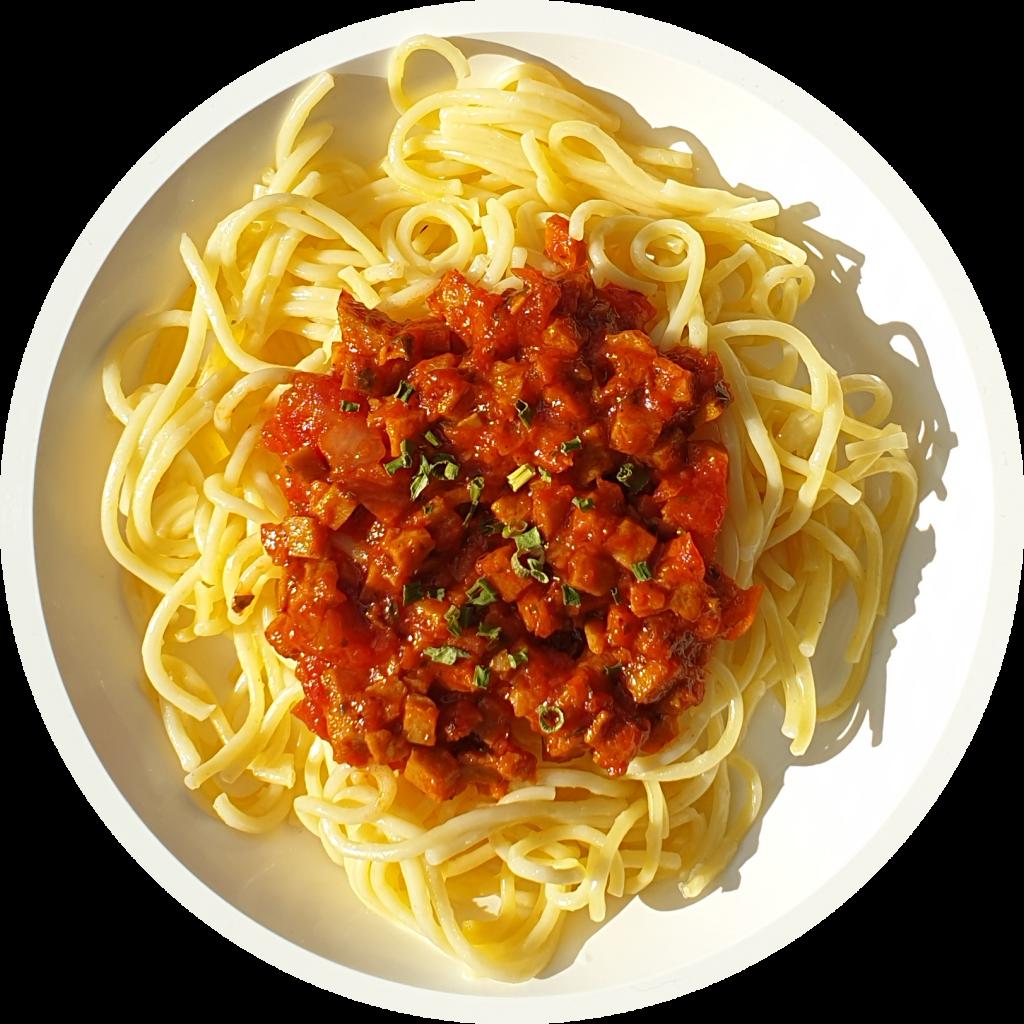 Seitan Spaghetti Bolognese