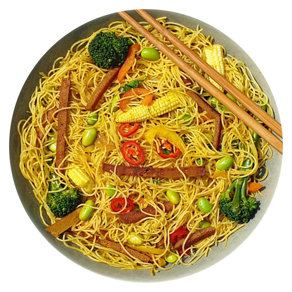 Seitan Singapore Noodles
